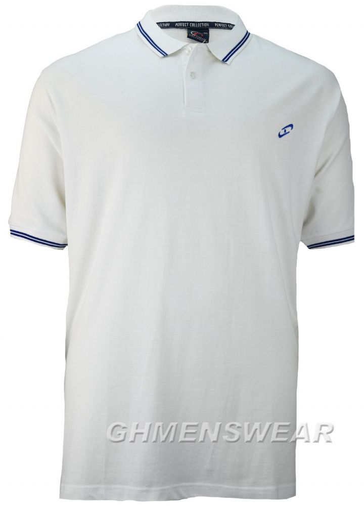PERFECT COLLECTION TIPPED POLO SHIRT - WHITE